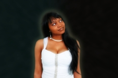 Latoya Williams One More Day Promo Photo, White Dress